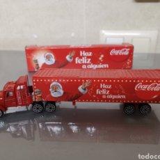 Coleccionismo de Coca-Cola y Pepsi: CAMIÓN COCA COLA NAVIDAD TRÀILER EN CAJA 20 CM. Lote 196772551