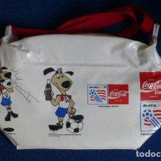 Coleccionismo de Coca-Cola y Pepsi: NEVERA DE PLASTICO, COCA-COLA- COPA MUNDIAL DE FUTBOL DE 1994, EN ESTADOS UNIDOS.. Lote 197129390