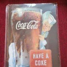 Coleccionismo de Coca-Cola y Pepsi: CARTEL DE CHAPA DE COCA COLA DECORACIÓN. Lote 197243788
