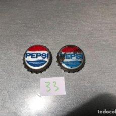 Coleccionismo de Coca-Cola y Pepsi: 2 CHAPA DE PEPSI COLA. AÑOS 80'S. ESPAÑA.CCC TCI. Lote 199244371