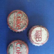 Coleccionismo de Coca-Cola y Pepsi: COKE 3 CHAPAS EEUU ANOS60. Lote 199714927