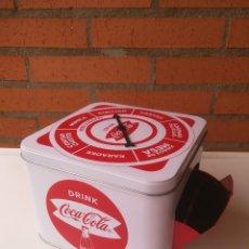 Coleccionismo de Coca-Cola y Pepsi: LATA CAJA JUEGO RULETA COCA COLA EN SU CAJA ORIGINAL. Lote 199728255