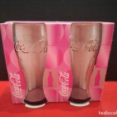 Coleccionismo de Coca-Cola y Pepsi: 2 VASOS DE COCACOLA COCA COLA ROSA . AÑO 2007. Lote 199753461