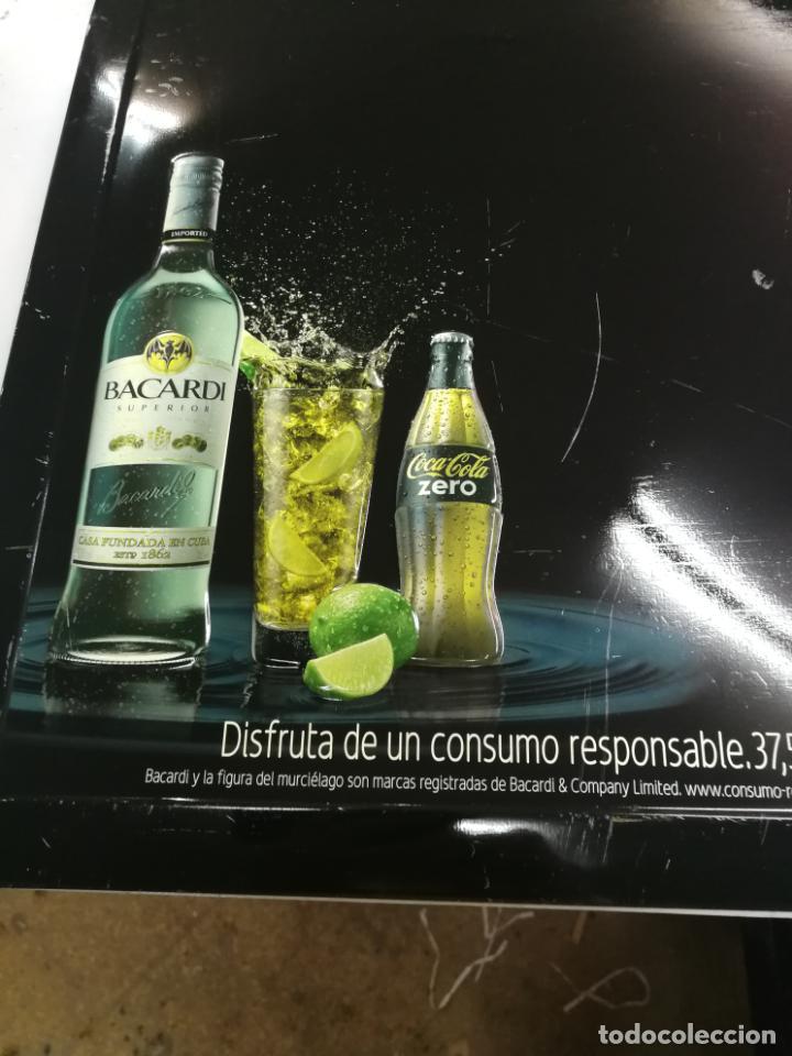 Coleccionismo de Coca-Cola y Pepsi: CHAPA PUBLICITARIA COCA - COLA ZERO BACARDI. PIZARRA. ORIGINAL - Foto 2 - 204701030