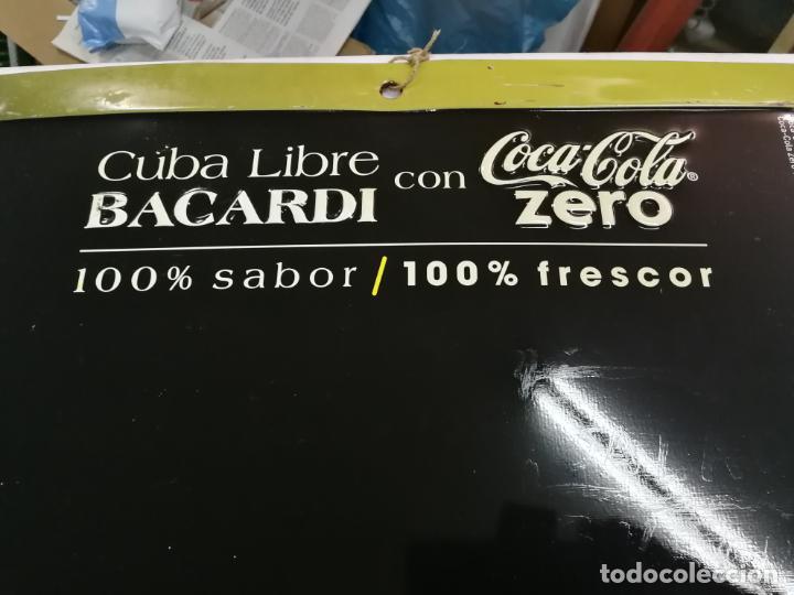 Coleccionismo de Coca-Cola y Pepsi: CHAPA PUBLICITARIA COCA - COLA ZERO BACARDI. PIZARRA. ORIGINAL - Foto 4 - 204701030