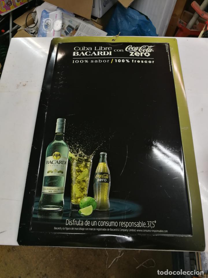 CHAPA PUBLICITARIA COCA - COLA ZERO BACARDI. PIZARRA. ORIGINAL (Coleccionismo - Botellas y Bebidas - Coca-Cola y Pepsi)