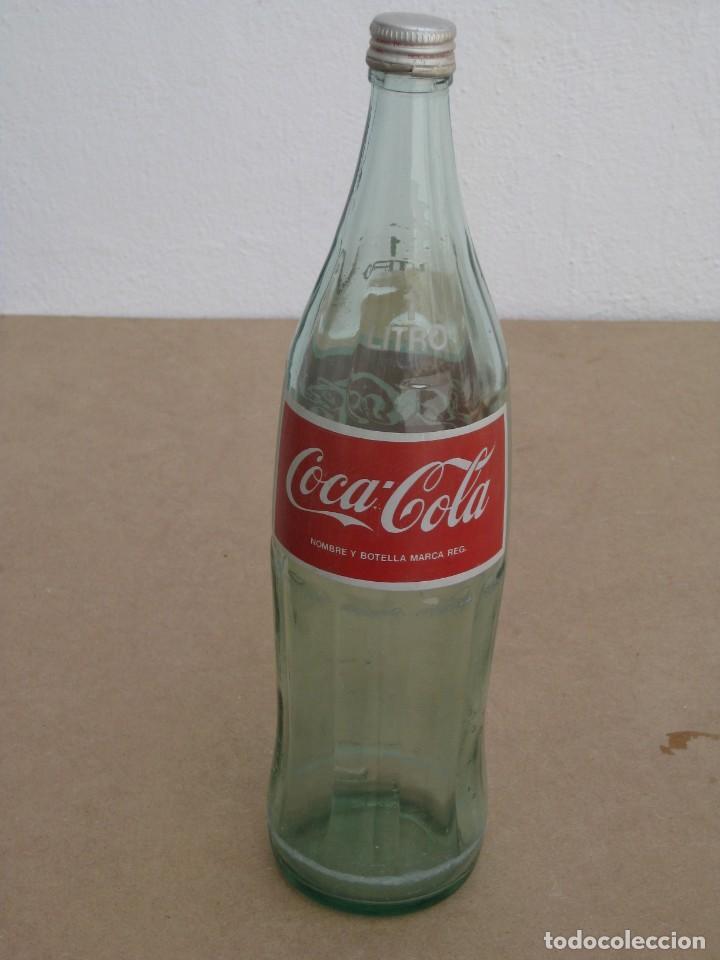ANTIGUA BOTELLA DE COCA COLA. 1 LITRO. (Coleccionismo - Botellas y Bebidas - Coca-Cola y Pepsi)