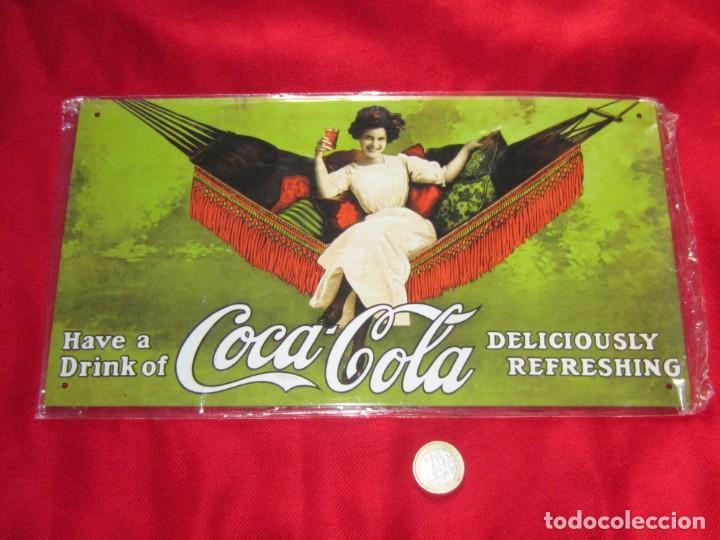 Coleccionismo de Coca-Cola y Pepsi: Coca Cola. Chapas litografiadas de publicidad. Ocho. - Foto 5 - 205713021