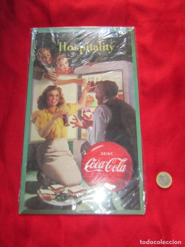 Coleccionismo de Coca-Cola y Pepsi: Coca Cola. Chapas litografiadas de publicidad. Ocho. - Foto 7 - 205713021