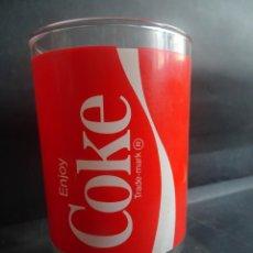 Coleccionismo de Coca-Cola y Pepsi: VASO GRANDE COCA COLA VIDRIO, ENJOY COKE, VER FOTOS. Lote 205834087