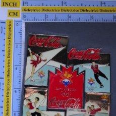 Collezionismo di Coca-Cola e Pepsi: 5 PINS DE COCA COLA / DEPORTES JUEGOS OLÍMPICOS OLIMPIADAS SALT LAKE CITY 2002 PUZZLE PATINAJE HIELO. Lote 205863196