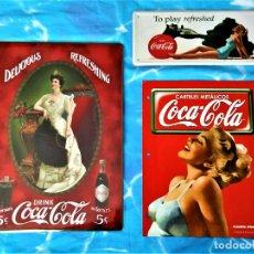 Coleccionismo de Coca-Cola y Pepsi: LOTE CHAPAS COCA COLA + FASCÍCULO / CARTEL METÁLICOS. Lote 206320085