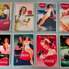 Coleccionismo de Coca-Cola y Pepsi: LOTE 8 POSTALES COCA RETRO SERIE COMPLETA. Lote 206440340