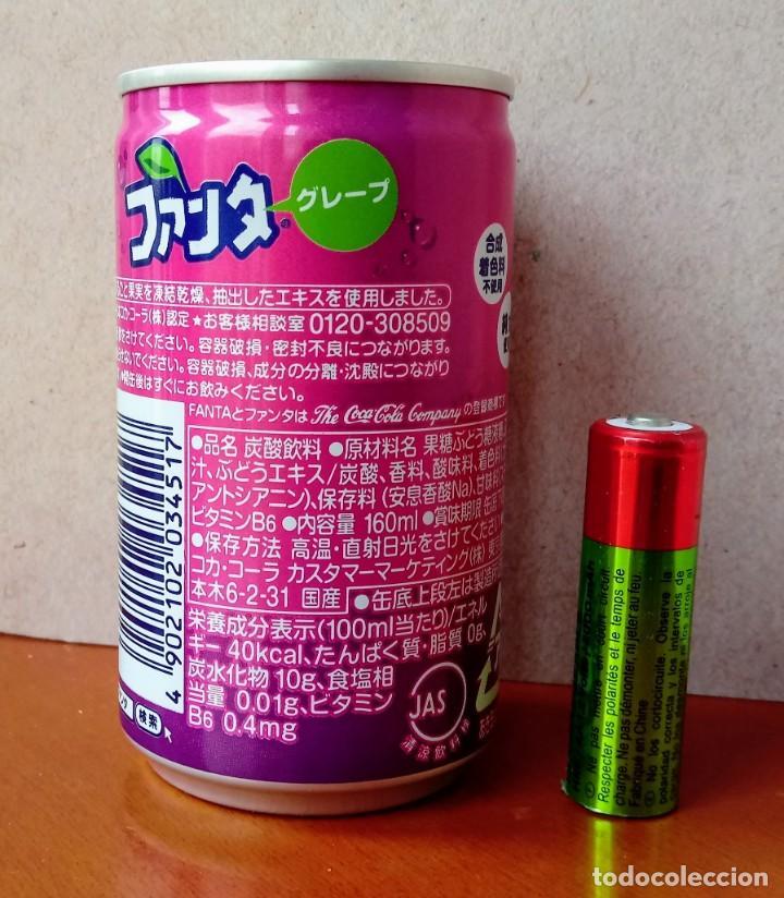 Coleccionismo de Coca-Cola y Pepsi: Mini lata FANTA SABOR UVA JAPÓN. NUEVA. COCA COLA COMPANY. SIN ABRIR. - Foto 2 - 206537251