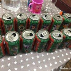 Coleccionismo de Coca-Cola y Pepsi: 15 LATAS DIFERENTES VACÍAS DE COCA COLA LIGA 96-97. Lote 207236480