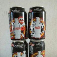 Coleccionismo de Coca-Cola y Pepsi: LOTE 4 LATAS COCA COLA EUROCOPA 2012 (CAJA 5). Lote 207365557