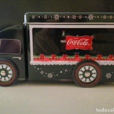 Coleccionismo de Coca-Cola y Pepsi: PRECIOSO CAMIÓN DE COCA-COLA DE HOJALATA VERDE OSCURO. Lote 208003072