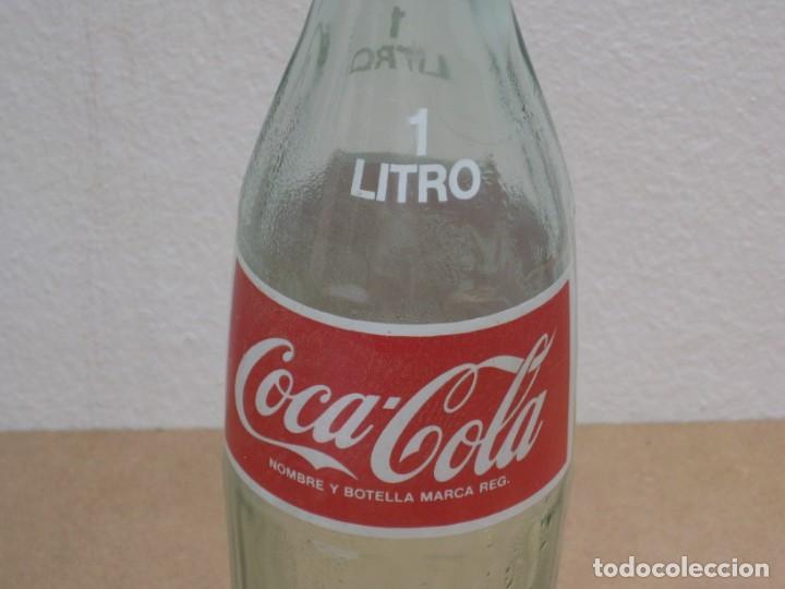 Coleccionismo de Coca-Cola y Pepsi: Antigua botella de Coca Cola. 1 litro. - Foto 4 - 208030151