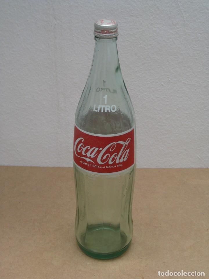 Coleccionismo de Coca-Cola y Pepsi: Antigua botella de Coca Cola. 1 litro. - Foto 5 - 208030151