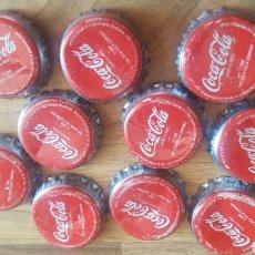 Coleccionismo de Coca-Cola y Pepsi: LOTE DE 10 CHAPAS DE COCA-COLA. Lote 209575585