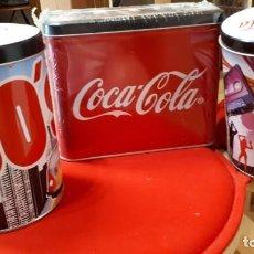 Coleccionismo de Coca-Cola y Pepsi: LOTE DE CAJAS METALICAS COCA COLA. Lote 209629251