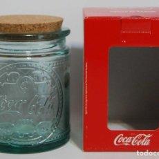 Coleccionismo de Coca-Cola y Pepsi: TARRO DE VIDRIO DE COCACOLA, NUEVO Y SIN USAR CRISTAL COCA COLA. Lote 210136557