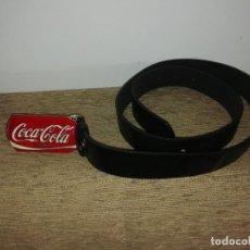 Coleccionismo de Coca-Cola y Pepsi: CINTURÓN COCA COLA PIEL Y ESMALTADO RARO. Lote 211557491