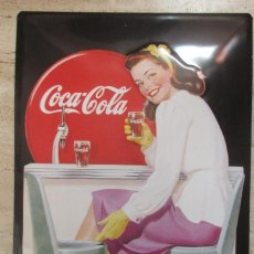 Collezionismo di Coca-Cola e Pepsi: PRECIOSA PLACA DE COCA COLA IMPECABLE GRANDE 60 X 40. Lote 211750496