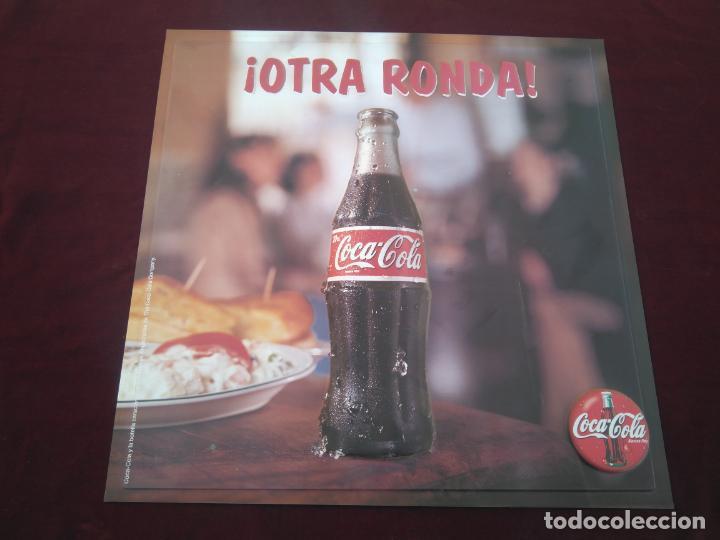 COCA COLA - ANTIGUO CARTEL EN RELIEVE, OTRA RONDA DE COCACOLA ¡¡¡ ÚNICO EN TODOCOLECCION !!! (Coleccionismo - Botellas y Bebidas - Coca-Cola y Pepsi)