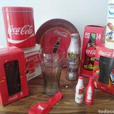 Coleccionismo de Coca-Cola y Pepsi: GRAN LOTE COCA COLA COCACOLA BOTELLA VASO CUBO MUNDIAL FUTBOL PORT AVENTURA CHAPA. Lote 212703558