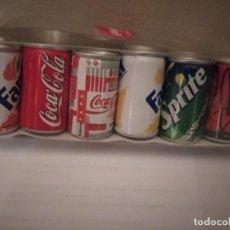 Coleccionismo de Coca-Cola y Pepsi: 6 LATAS MINIATURA DE COCA-COLA, FANTA, SPRITE Y CHERRY COKE.. Lote 213120385