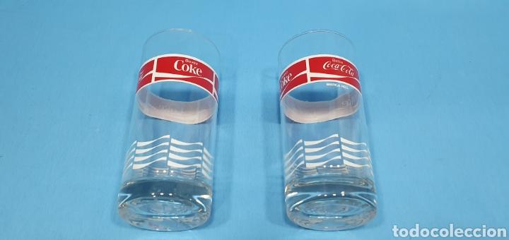 Coleccionismo de Coca-Cola y Pepsi: ANTIGUOS VASOS DE CRISTAL DE COCA-COLA - Foto 2 - 213220286