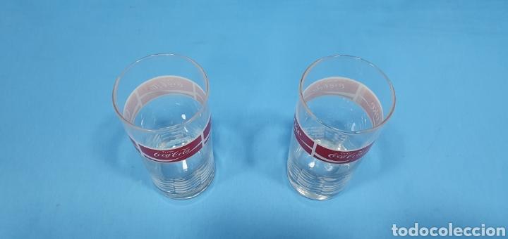 Coleccionismo de Coca-Cola y Pepsi: ANTIGUOS VASOS DE CRISTAL DE COCA-COLA - Foto 4 - 213220286