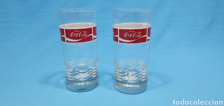 ANTIGUOS VASOS DE CRISTAL DE COCA-COLA (Coleccionismo - Botellas y Bebidas - Coca-Cola y Pepsi)