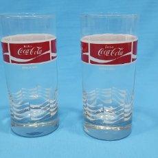 Coleccionismo de Coca-Cola y Pepsi: ANTIGUOS VASOS DE CRISTAL DE COCA-COLA. Lote 213220286