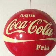 Coleccionismo de Coca-Cola y Pepsi: (M-R/C) ANTIGUA PUBLICIDAD COCA-COLA PLASTICO DISPLAY PARA COLGAR AQUI COCA-COLA FRIA - 29 CM.. Lote 213228671
