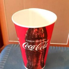 Coleccionismo de Coca-Cola y Pepsi: VASO DE COCA COLA, CARTÓN. 300 ML. NUEVO, SIN USAR. Lote 214560868