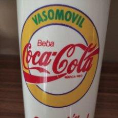 Coleccionismo de Coca-Cola y Pepsi: VASOMOVIL DE COCA-COLA, VASO DE GRAN TAMAÑO CON TAPA Y PAJA. CAPACIDAD CASI UN LITRO.. Lote 215176565