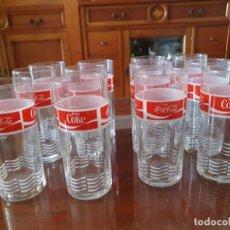 Coleccionismo de Coca-Cola y Pepsi: ANTIGUO JUEGO DE 12 VASOS DE COCA-COLA. Lote 215448640