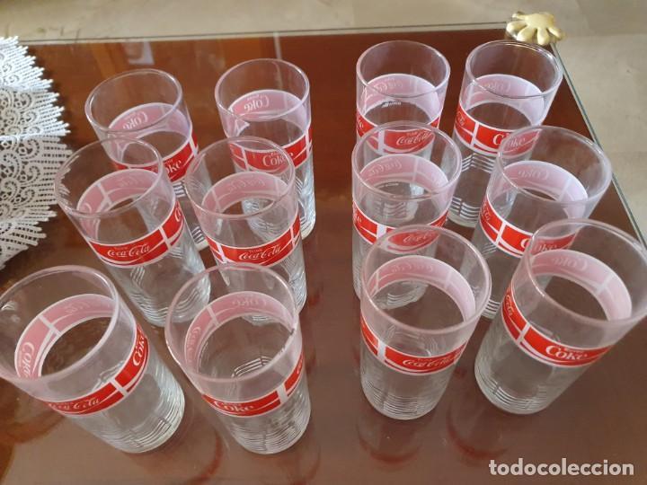 Coleccionismo de Coca-Cola y Pepsi: Antiguo juego de 12 vasos de Coca-Cola - Foto 2 - 215448640