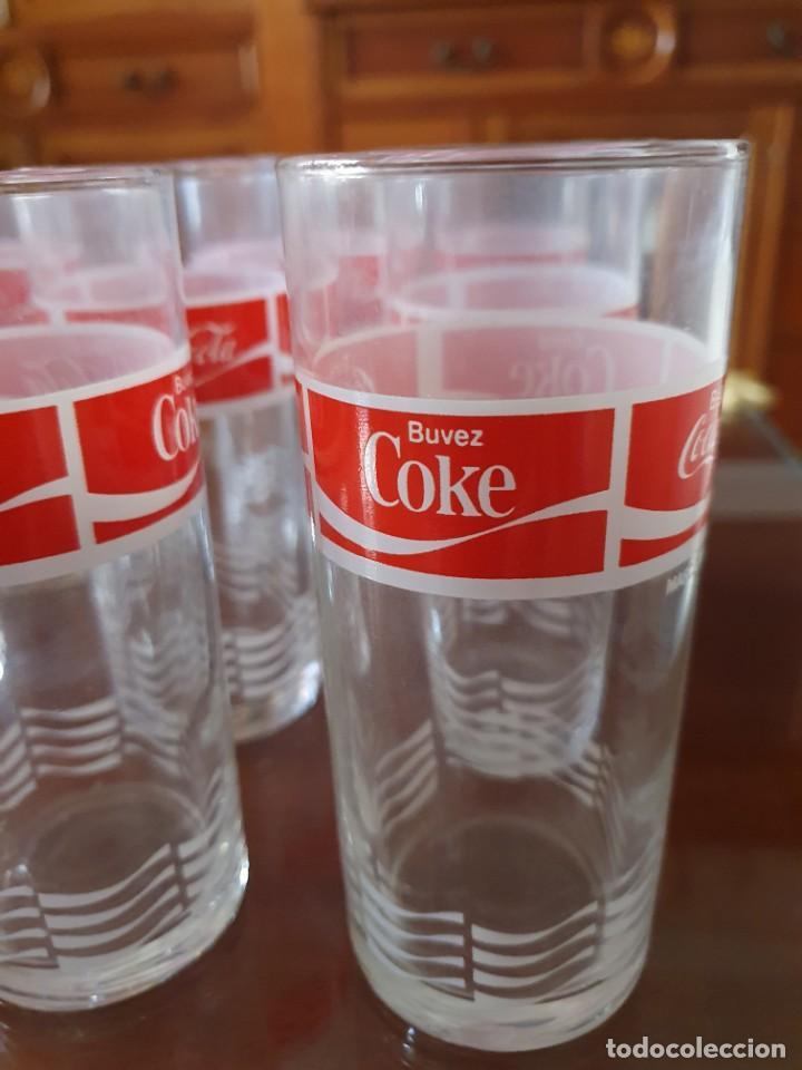 Coleccionismo de Coca-Cola y Pepsi: Antiguo juego de 12 vasos de Coca-Cola - Foto 3 - 215448640