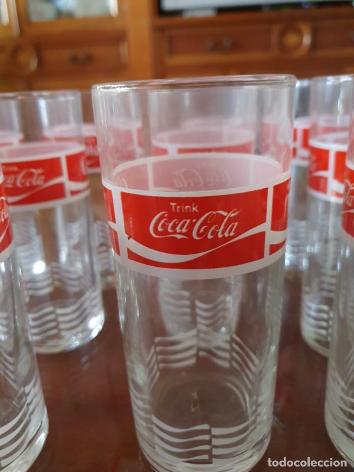 Coleccionismo de Coca-Cola y Pepsi: Antiguo juego de 12 vasos de Coca-Cola - Foto 4 - 215448640