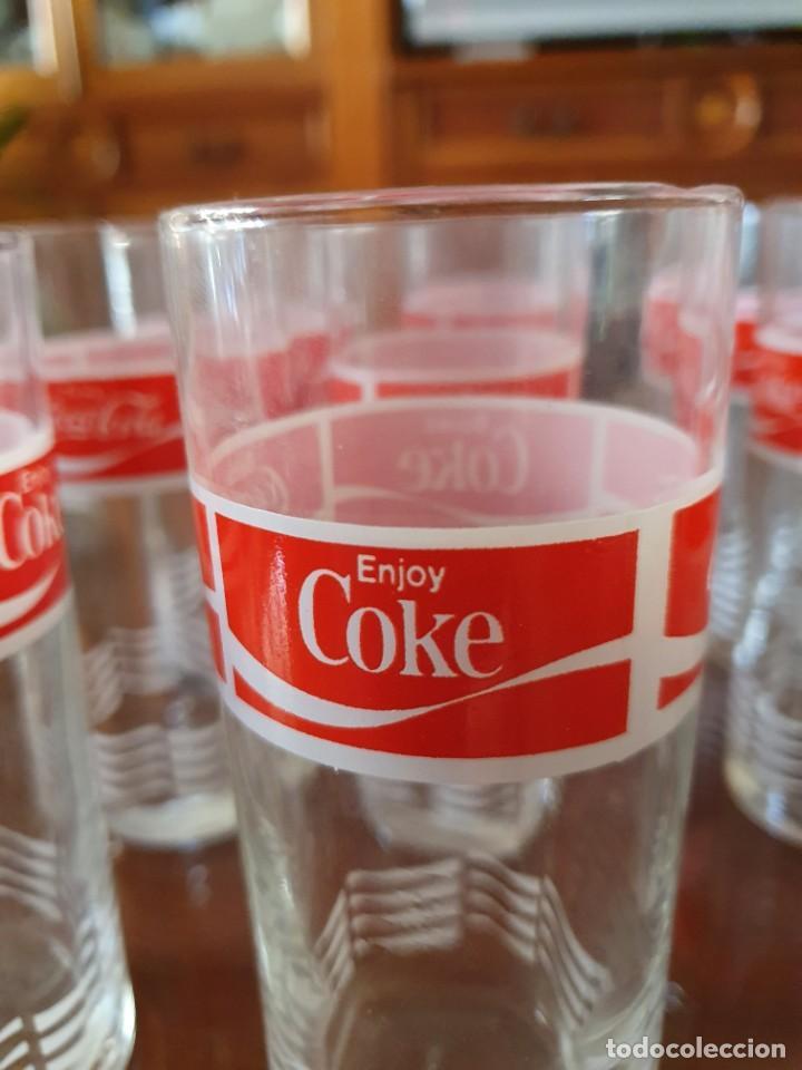 Coleccionismo de Coca-Cola y Pepsi: Antiguo juego de 12 vasos de Coca-Cola - Foto 5 - 215448640