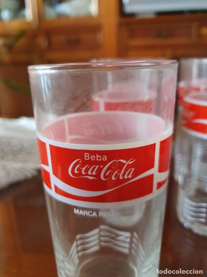 Coleccionismo de Coca-Cola y Pepsi: Antiguo juego de 12 vasos de Coca-Cola - Foto 6 - 215448640