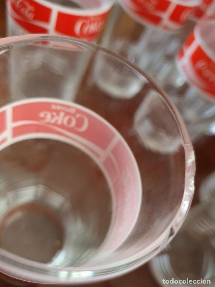 Coleccionismo de Coca-Cola y Pepsi: Antiguo juego de 12 vasos de Coca-Cola - Foto 7 - 215448640