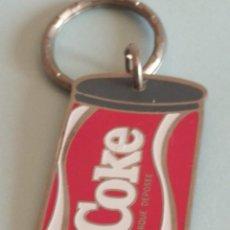 Coleccionismo de Coca-Cola y Pepsi: LLAVERO COKE DE COCA-COLA - MARQUE DEPOSEE - AÑO 1989.. Lote 215950585