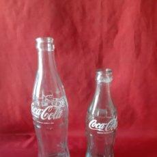 Coleccionismo de Coca-Cola y Pepsi: LOTE DE 2 BOTELLAS DE COCA-COLA SERIGRAFIADA UNA DE 35 CL Y LA OTRA DE 19 CL. Lote 216483502