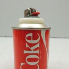 Coleccionismo de Coca-Cola y Pepsi: INTERESANTE MECHERO VINTAGE DE SOBREMESA DE PUBLICIDAD LATA COCA-COLA. Lote 216655215
