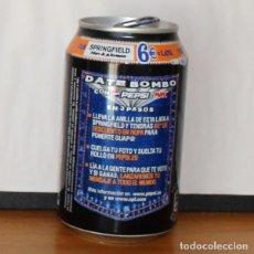Coleccionismo de Coca-Cola y Pepsi: LATA PEPSI MAX PROMO SPRINGFIELD. 33CL. CAN BOTE COLA. Lote 216744627