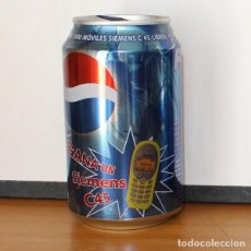 Coleccionismo de Coca-Cola y Pepsi: LATA PEPSI PROMO SIEMENS C45. 33CL. CAN BOTE COLA BLAU. Lote 216744863